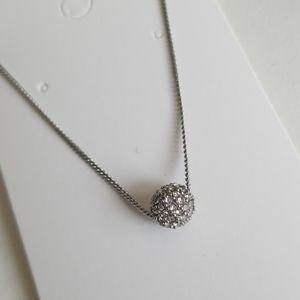 Dainty single Rhinestone bead necklace